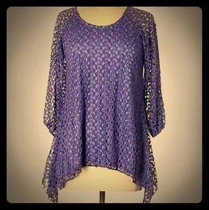 Gorgeous New Purple DRESSBARN 3/4 Sleeve Blouse